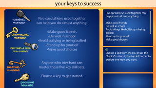 "Students are introduced to ""keys,"" or areas of emotional learning to focus on."