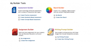 Use the Builder Tools to create assignments and assessments.