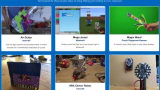 MakeCode highlights various projects for inspiration.