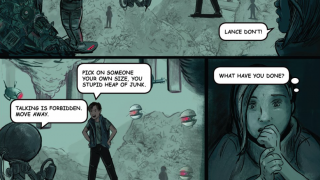 Stories are presented in a graphic novel format -- currently there's only one issue available.
