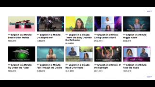 """English in a Minute"" videos help ELLs grasp the meaning of American English idioms."