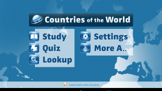 Countries of the World lets users explore and study characteristics of countries around the globe.