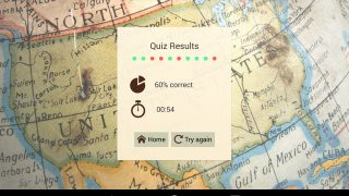Users see their scores at the end of each quiz.