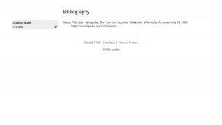The bibliography text can be created in a variety of formats.
