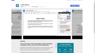Integrate Scrible with Google Docs to make paper writing and assignments easier.