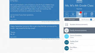 The communication tool lets teachers quickly send out messages to students or families.