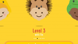 Choose a level to start; each level is represented by an Ibbleobble Friend.