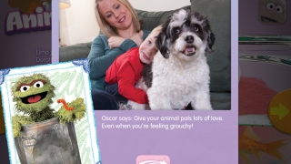 Oscar the Grouch talks about ways to show pets you care about them.