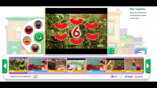 Watch as Count Dracula adds and subtracts bats, then watch more counting videos and play counting games.