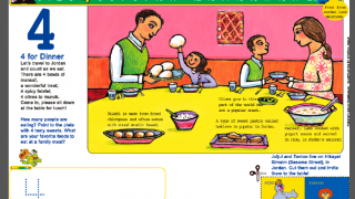 A print out worksheet combines cross-cultural themes with teaching about numbers and gives suggestions for conversation.