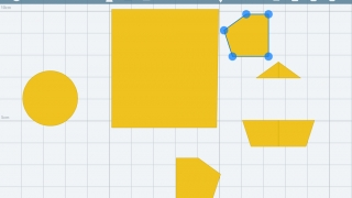 Kids can draw multiple shapes on each drawing sheet.