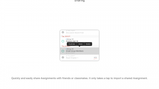 Share assignments easily with friends, classmates, or parents.
