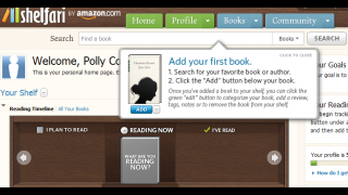 The home page has guidance on adding books to your virtual library.