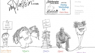 """ShelSilverstein.com includes a kids corner, a teachers and parents section, and a link to lesson plans for """"Shelebrating"""" Poetry Month."""