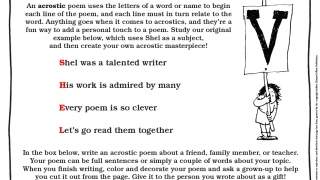 Activity sheets use Shel's poems to teach about poetry.