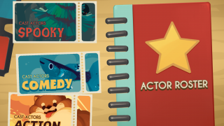 Players can choose among casting a spooky, comedy, or action movie.