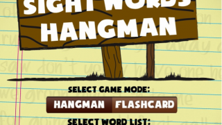 "Kids choose the ""Hangman"" game or ""Flashcard"" mode."