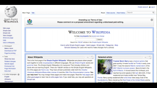 The site looks and functions like the main Wikipedia site students are familiar with.
