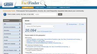 FactFinder tools offer access to all manner of data, which is great for letting kids follow their curiosity.