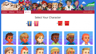 Students build their own avatars and earn points to unlock new items.