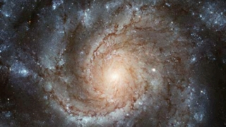 Hubble gallery image of the Pinwheel Galaxy with Find in Sky button at bottom.
