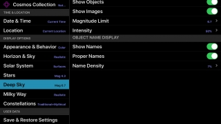 Settings allow lots of flexibility in what and how information is shown.