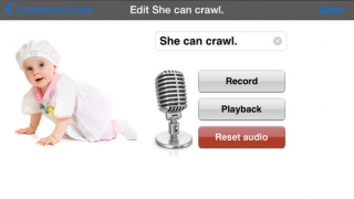 Teachers can record sentences for their students to hear.