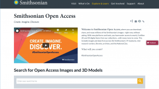Smithsonian Open Access is open to everyone and offers up free, public domain resources.