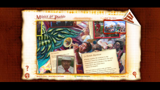 The site also has a few interactive features, such as its virtual Musica del Pueblo exhibition.