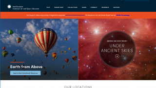 The site includes multiple sections for visitors and educators alike.