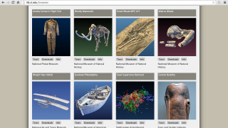 There are 28 items (from fossils to a supernova to flight suits) to browse.