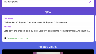 A variety of resources appear that link to information related to the question.