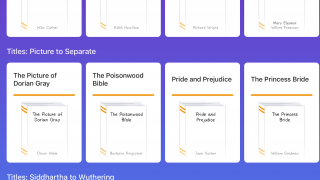 Some resources, such as popular literary works, are available in a consistent format within the app.