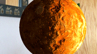 Use the AR feature to place the planets in your surroundings where students can interact with them.