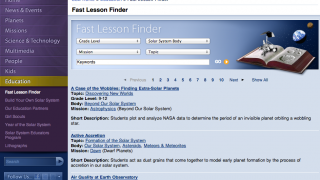 Teachers can search for lessons by topic or grade level.