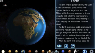 Students can pinch to zoom and swipe their fingers across the device screen to explore each planet and its surroundings.
