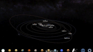 Using the calendar function, students can see just where the planets are today or on any given day, past or future.