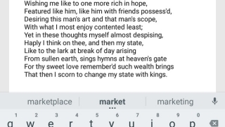 Share sonnets with friends via email or other apps.