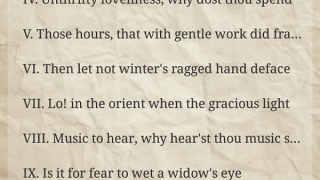 Find sonnets by first line index.