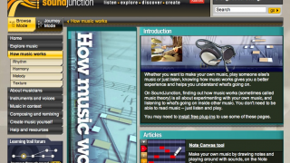 The site offers detailed information about music basics and more detailed topics.