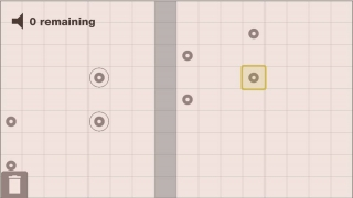 Players create music by dropping symbols onto a grid.