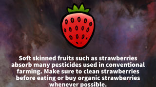 Unlock factoids about healthy foods used in the app.