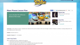 The helpful lesson plans outline learning goals and provide additional classroom activities.