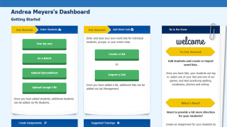 Get started with the educator dashboard. Add students and word lists, create assignments, and find training videos.