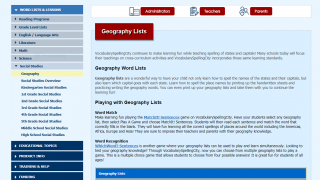 Browse word lists across the core content areas and all grade levels.
