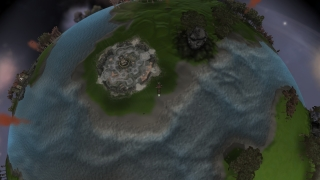 Players get to circle a planet in the space stage.