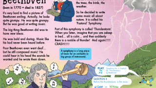 Kids can explore eight different classical composers whose works span over three centuries.