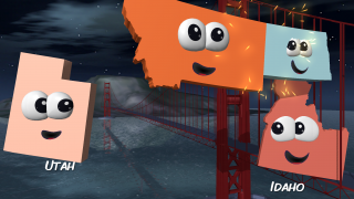 Play Connect 2 to connect two neighboring states in the proper configuration.