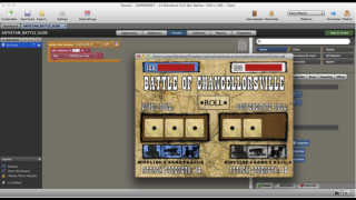 Code samples and a screenshot of the final Civil War game.