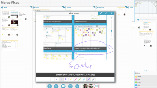 Users can draw notes, add comments, and collaborate.